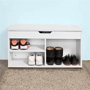 Meuble A Chaussure Banc : sobuy fsr27 w banc de rangement chaussures bottes avec coussin rembourr meuble d 39 entr e ~ Preciouscoupons.com Idées de Décoration