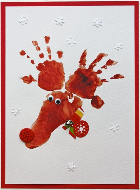 Hand And Footprint Reindeer Cards