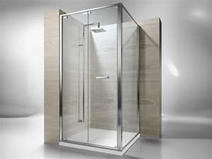 Cabine De Douche En Verre : cabine de douche d 39 angle sur mesure en verre tremp junior ~ Zukunftsfamilie.com Idées de Décoration