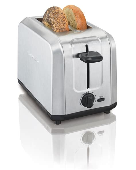 2 Slice Toaster by Hamilton Brushed Stainless Steel 2 Slice