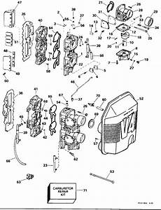 Johnson Carburetor  U0026 Intake Manifold Parts For 1996 115hp J115gledr Outboard Motor