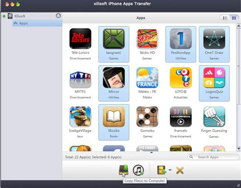 apps between iphones xilisoft iphone apps transfer for mac transfer apps