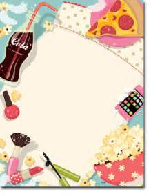 Blank Sleep Over Birthday Party Invitations