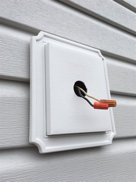 light fixture mounting box lighting exterior lights on new siding no electrical