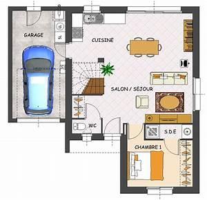 Plan Maison 1 Chambre 1 Salon : mimosa lamotte maisons individuelles ~ Premium-room.com Idées de Décoration