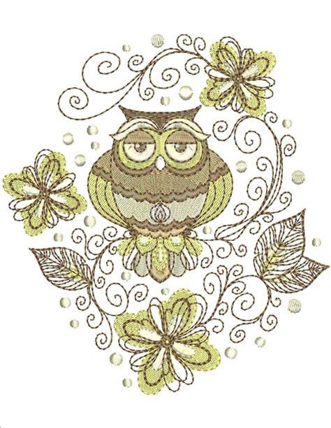 designs of retro owl swirls designs machine embroidery designs by sew swell