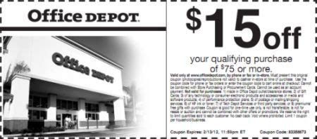 Office Depot Coupons For Printer by Office Depot Save 15 75 Printable Coupon Exp