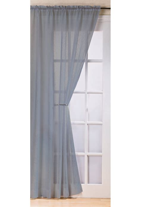 fiji silver crushed voile panel woodyatt curtains stock