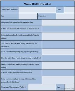mental health evaluation form sample forms With psychiatric evaluation form template