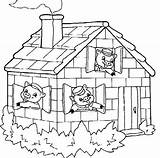 Pigs Three Coloring Pages Houses Drawing Getdrawings Printable Sheets Getcolorings Batch sketch template