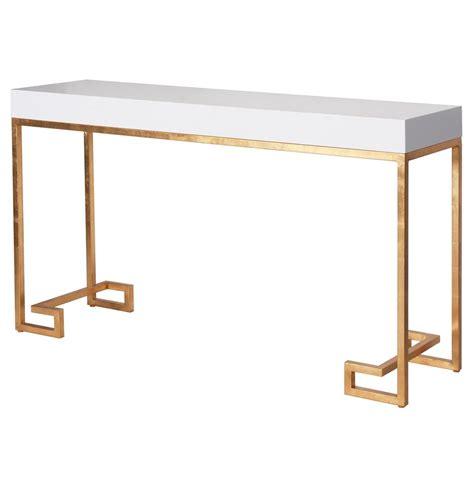 gold console table davinci regency white lacquer gold console table