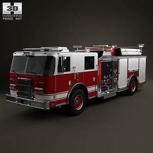 Pierce Fire Truck Pumper 2011 3d Model Max Obj 3ds Fbx C4d Lwo Lw Lws