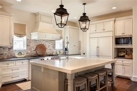 Charming Kitchen Designs With Brick Backsplash For