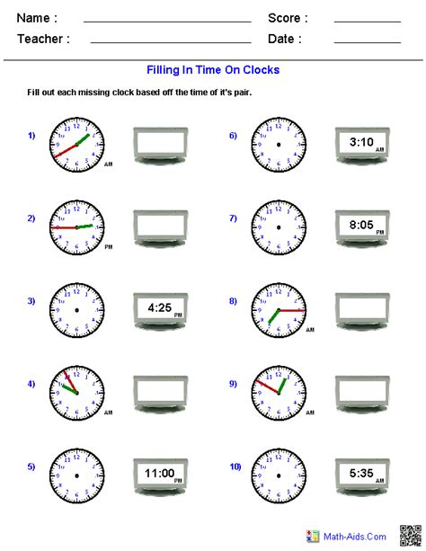 digital time worksheets for grade 3 reading analog and digital clocks worksheets math aids