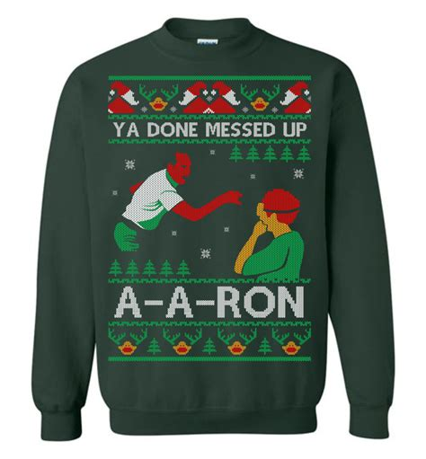 ron swanson ugly sweater ya done messed up a a sweater 2017 the wholesale t shirt co