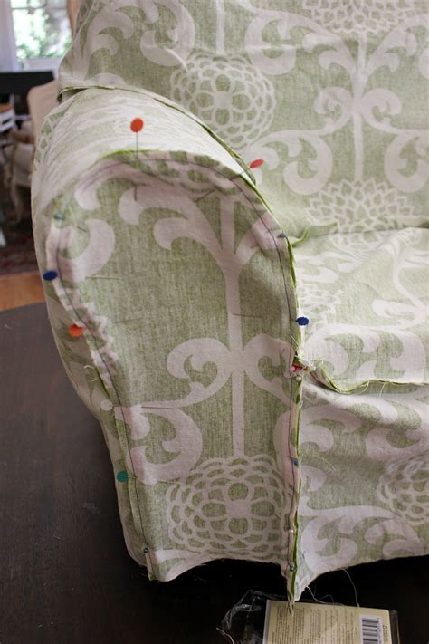 how to make a sofa cover without sewing armchair slipcover tutorial
