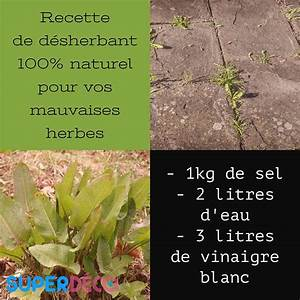 Vinaigre Blanc 14 Desherbant : d sherbant naturel bio et cologique super d co ~ Melissatoandfro.com Idées de Décoration