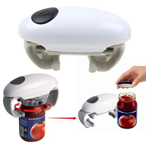 battery operated electric automatic can jar opener tin open tool cordless battery