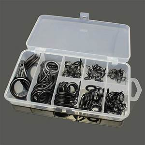 75pcs Stainless Steel Fishing Rod Guide Tip Repair Kit Eye