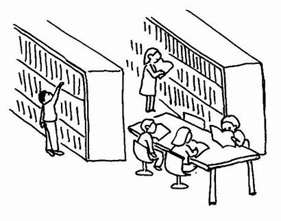 Library Drawing Coloring Pages Activity Colouring Sketch