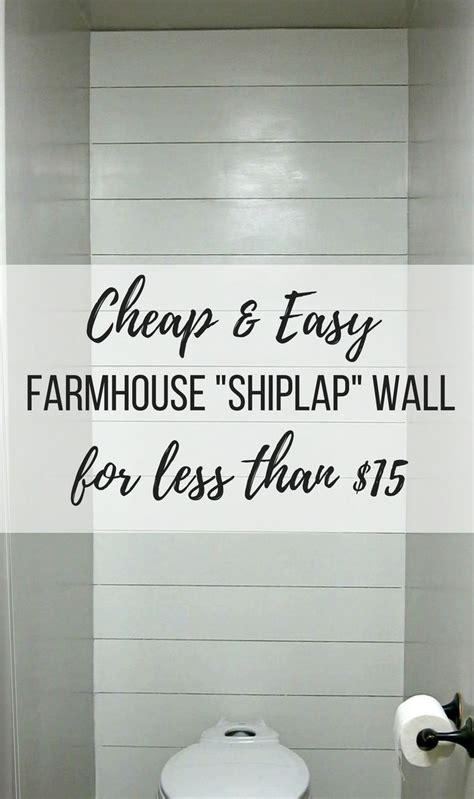 Easy Shiplap by Cheap Easy Farmhouse Shiplap Wall For Less Than 15