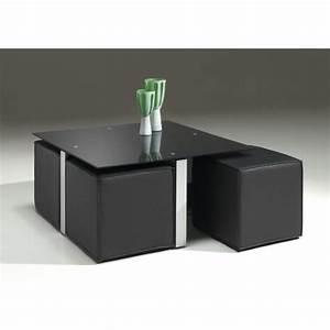 Table Basse Pouf Intégré : achat table basse avec pouf maison et mobilier ~ Dallasstarsshop.com Idées de Décoration