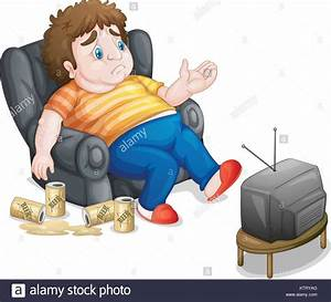 Fat obese large drinking stock photos fat obese large for Couch potato sofa buddy