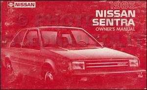 1986 Nissan Sentra Owners Manual Original Oem Owner User