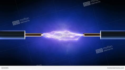 electrical wiring electrical technology electrical spark between two copper wires looped stock