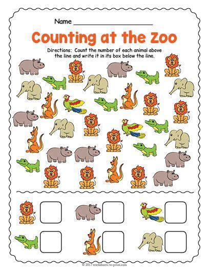 zoo animals counting worksheet schematic  wiring diagram