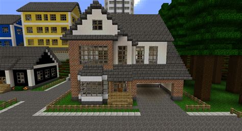White/Brick house Minecraft Project