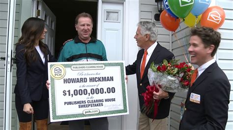 publishers clearing house winner today publishers clearing house winners howard hickman from
