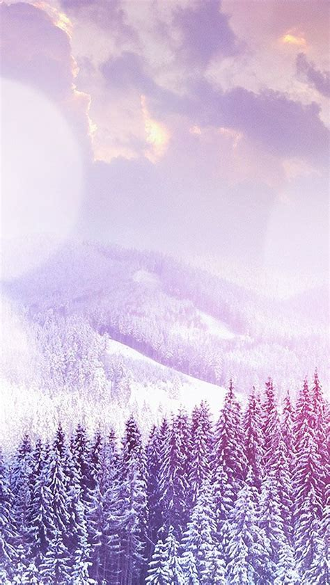 Snow Wallpaper Iphone Hd by Winter Mountain Snow White Flare Nature Iphone 5s