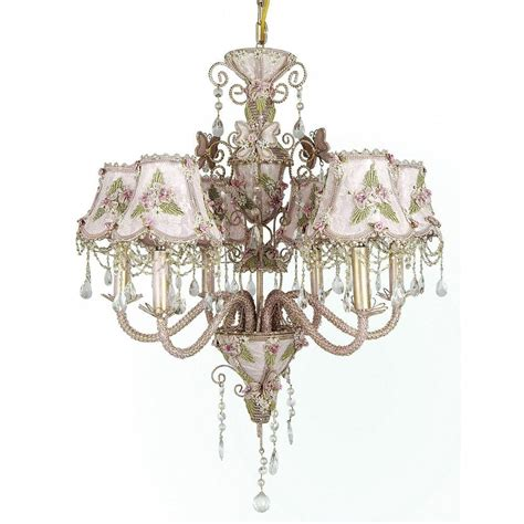 Light Pink Chandelier by Filament Design Xavier 6 Light Pink Chandelier Cli Biaw01