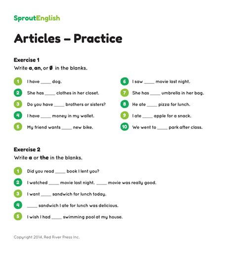 free worksheets 187 free worksheets on articles printable