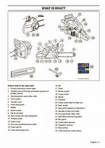 Husqvarna 340 340e 345e 350 Chainsaw Owners Manual  2007