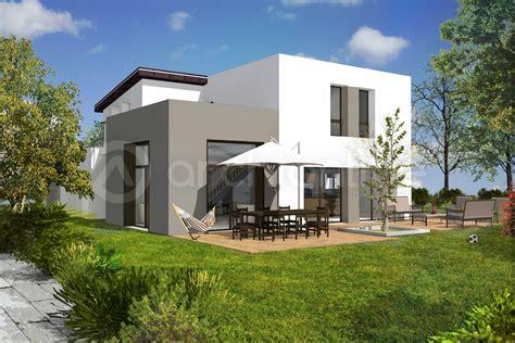 plan maison plain pied 4 chambres garage cuisine plan de maison moderne avec garage archionline