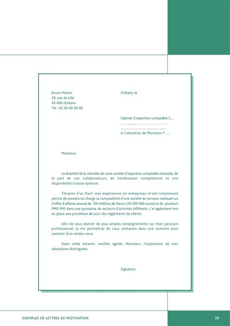 lettre de motivation stage cabinet comptable exemples de lettres de motivation