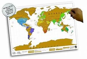 Carte Du Monde à Gratter Maison Du Monde : carte du monde gratter format affiche ~ Teatrodelosmanantiales.com Idées de Décoration