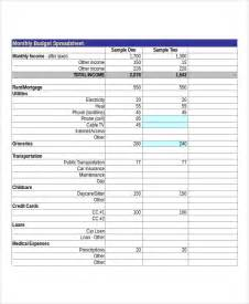 Monthly Budget Excel Spreadsheet Sle Budget Spreadsheet 8 Exles In Excel