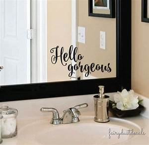hello gorgeous vinyl lettering decal laptop sticker With vinyl lettering for mirrors
