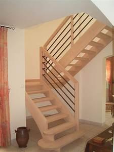 Escalier Bois Quart Tournant : escaliers contemporains escaliers duporge ~ Farleysfitness.com Idées de Décoration