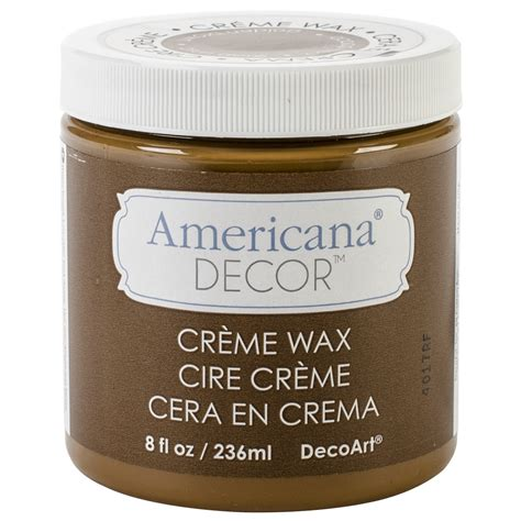 Americana Decor Creme Wax Brown americana decor creme wax 8oz golden brown