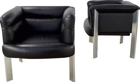 Pair Of Poltrona Frau Sc20 Armchairs, Marco Zanuso