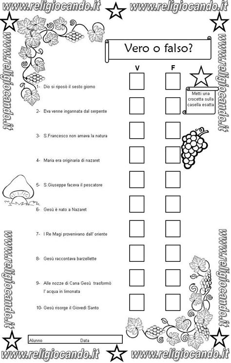 Test D Ingresso Terza Media - prova d ingresso di religione cattolica per la classe