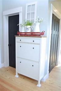 Ikea Hemnes Hack : a simple ikea hemnes shoe cabinet hack newlywoodwards ~ Indierocktalk.com Haus und Dekorationen