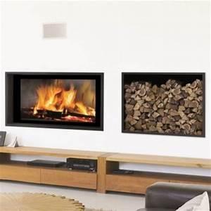 Cheminée à Bois : cheminee moderne design a bois ~ Premium-room.com Idées de Décoration