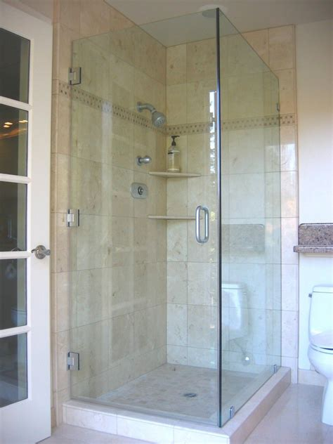 bathroom interesting design  corner shower doors glass
