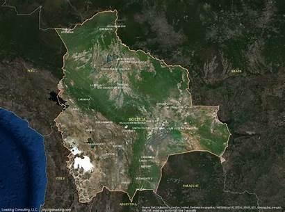 Bolivia Satellite Map Sucre Maps Gis