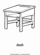 Desk Colouring Activity Coloring Desks Village Activityvillage Table Para Colorear Colour Simple Kid Dibujos Drawings Sheets Explore sketch template